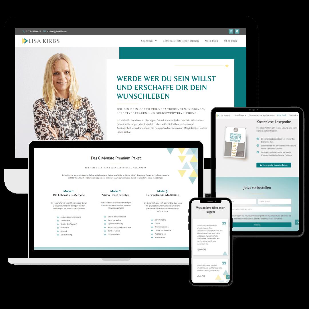 Lisa Kirbs hat sich ihre Website erstellen lassen