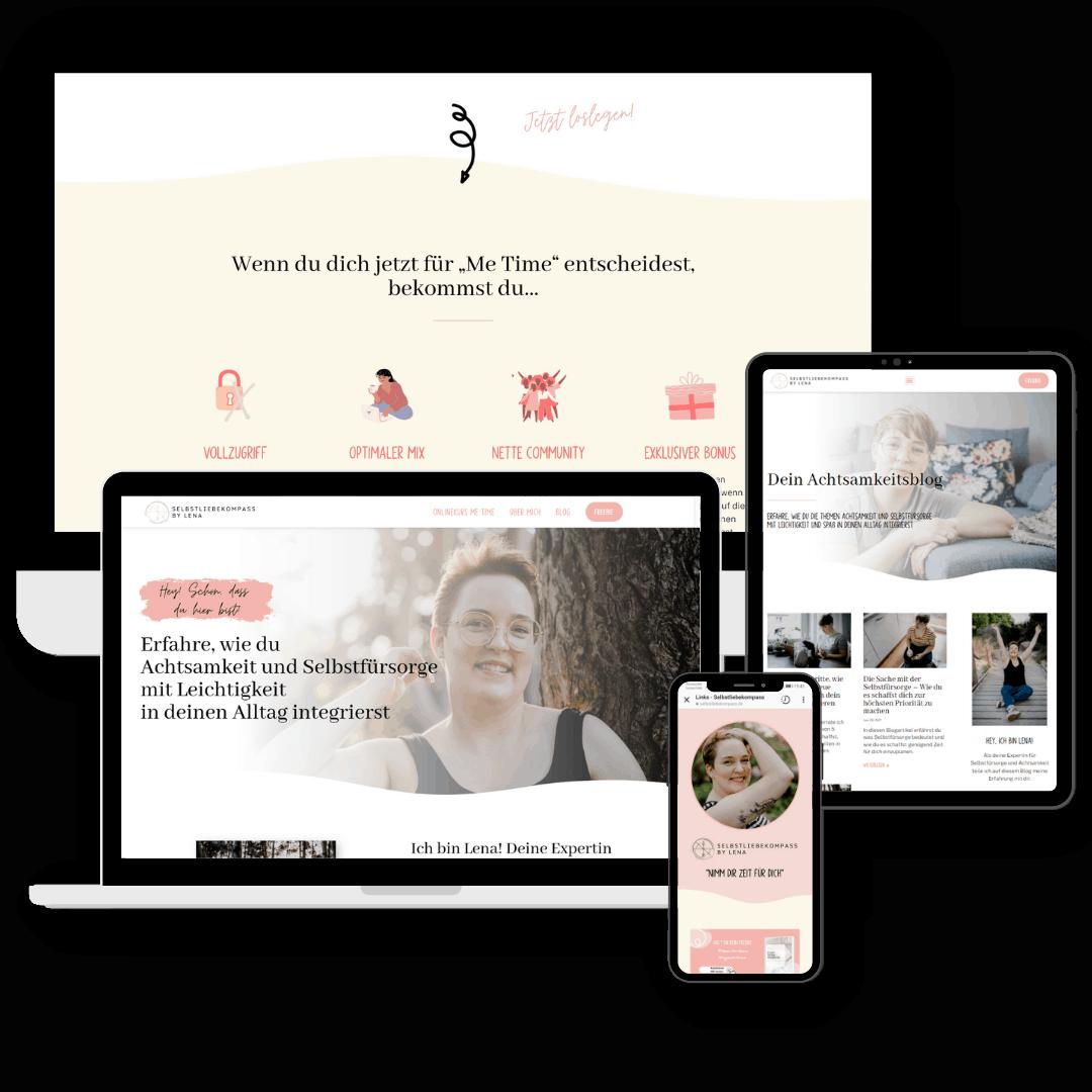 Selbstliebekompass_Website-Referenz von Jessica Roth