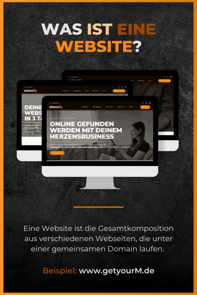 Mit dem Website wir die komplette Website, also das Gesamtkonstrukt, innerhalb einer Domain gemeint.