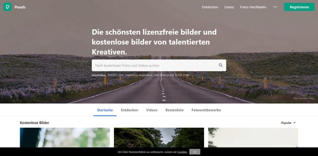 Pexels ist eine Plattform für kostenlose und lizenzfreie Stockfotos